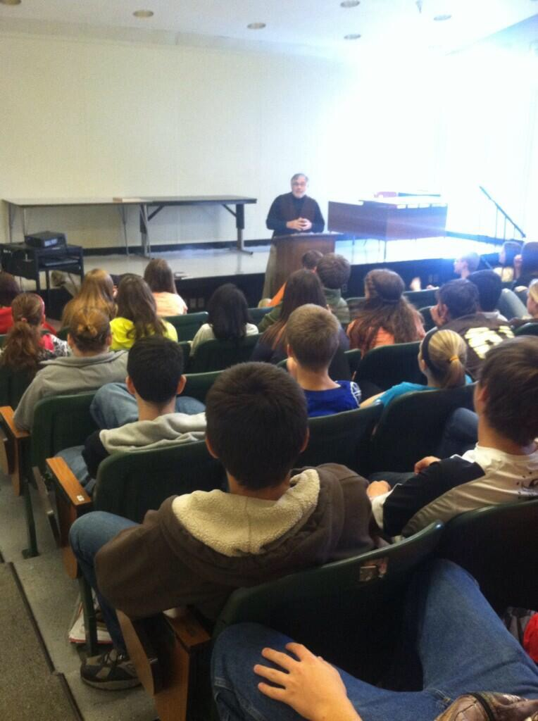 Bethany College's Dr. Grimes came to speak with my classes and tell his world famous ghost stories.